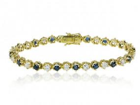 Armband mit 2,406ct Diamanten und 2,651ct Saphiren