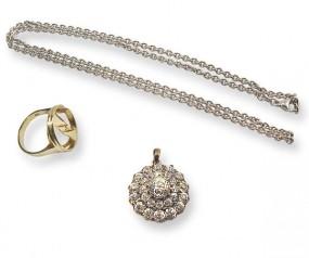 Antiker Sammlerschmuck aus Diamanten mit vielseitiger Tragbarkeit - als Ring und Anhänger-Copy